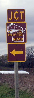 Rustic Road Junction Marker